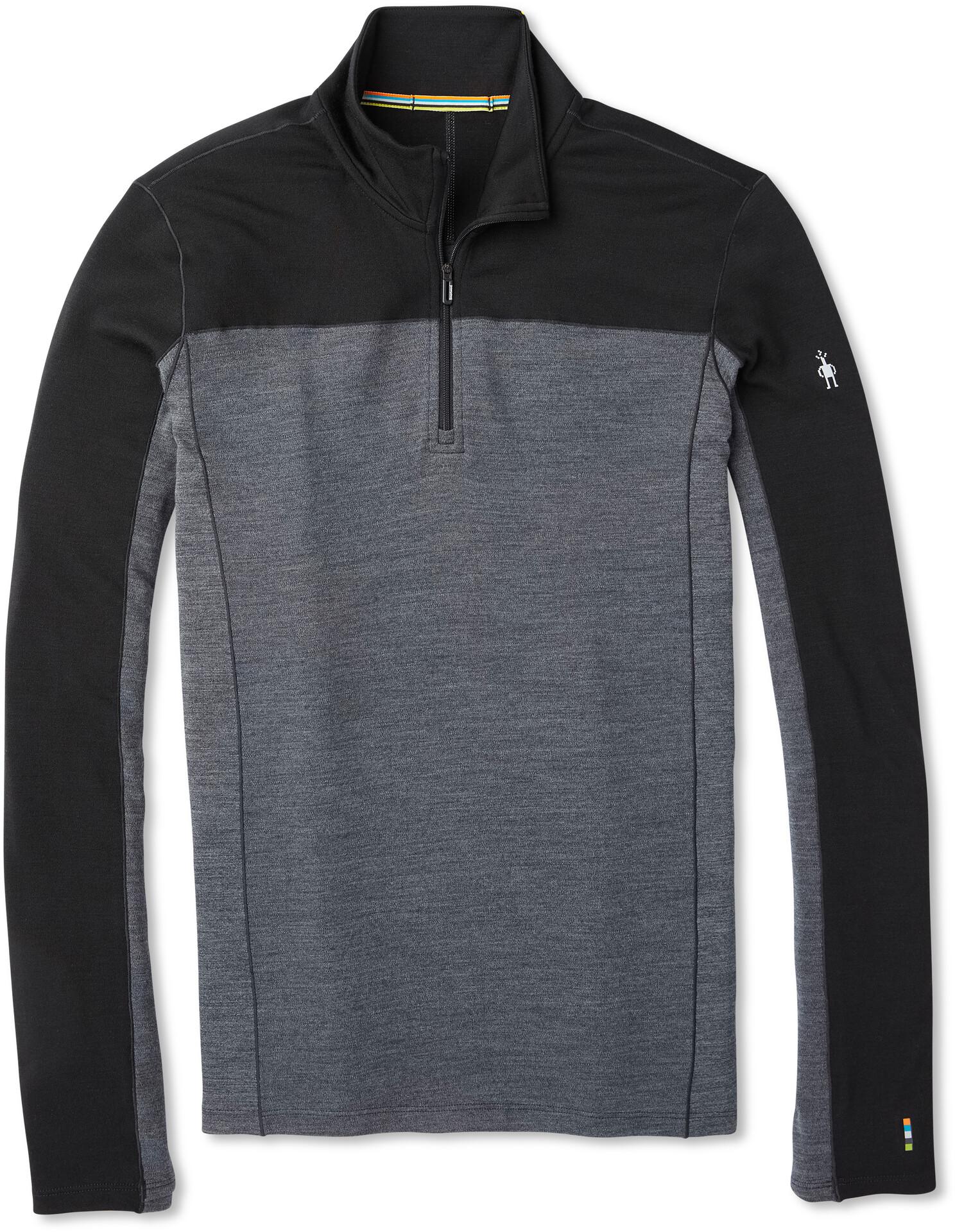Smartwool Merino Sport 250 Sweat shirt manches longues avec Fermeture éclair 14 Homme, black